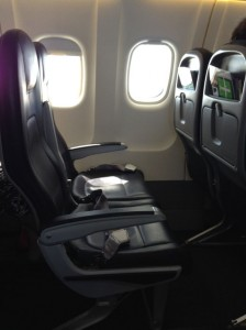 Seating on the Air New Zealand ATR 72-600