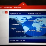 Qantas moving map A330-300