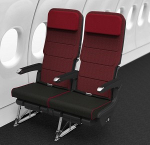 Rendering of the new A330-300 economy seat (Source: Qantas)