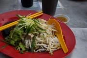 Penang food, chicken and hor fun