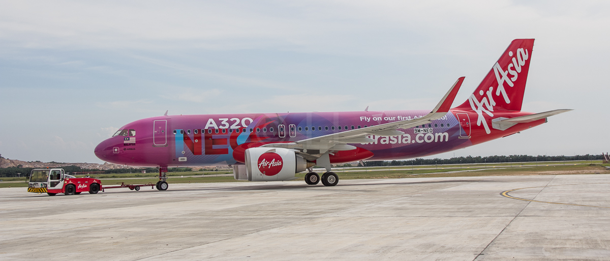 AirAsia A320 family,AirAsia turns 18,AirAsia's first Airbus A320neo