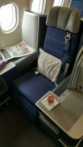 Malaysia Airlines Airbus A330 Business Class seat 1K
