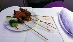 Malaysia Airlines' signature satay dish
