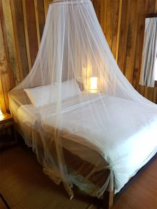 Sihanoukville Accommodation - Sok San Resort - Garden Chalet bedding