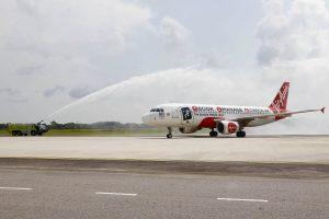 inaugural flight to Melaka